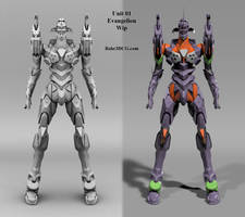 Eva Unit 01 WIP2 - quick shade by Bahr3DCG