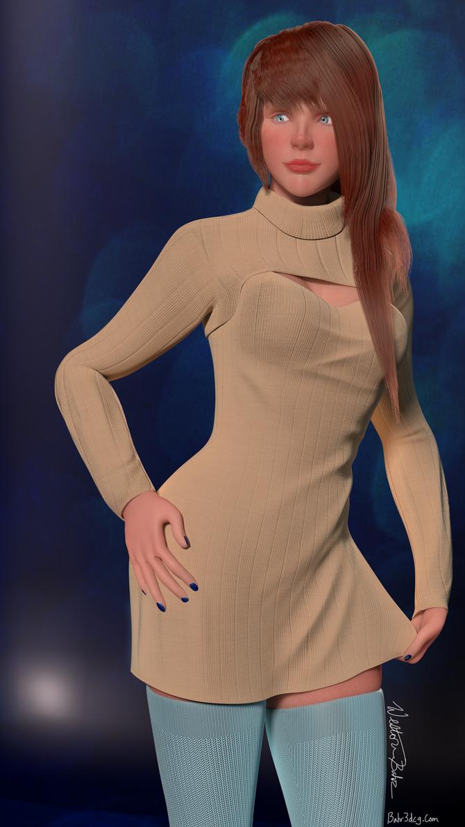 Cosette's Sweater by Bahr3DCG