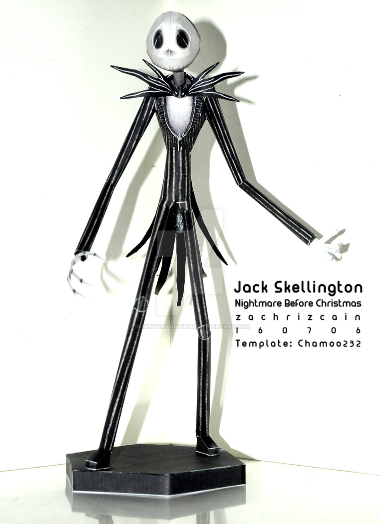 [PAPERCRAFT] Jack Skellington by introvertvirtuoso
