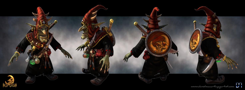 Night Goblin Boss Turn-around by Dandoombuggy