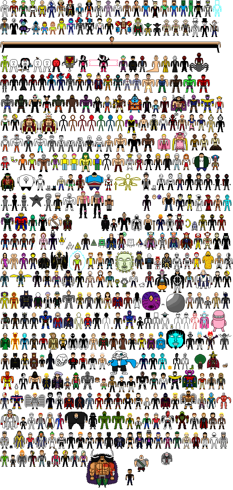 A Lot Of Characters Made In Pixel Art By Ollmart On Deviantart