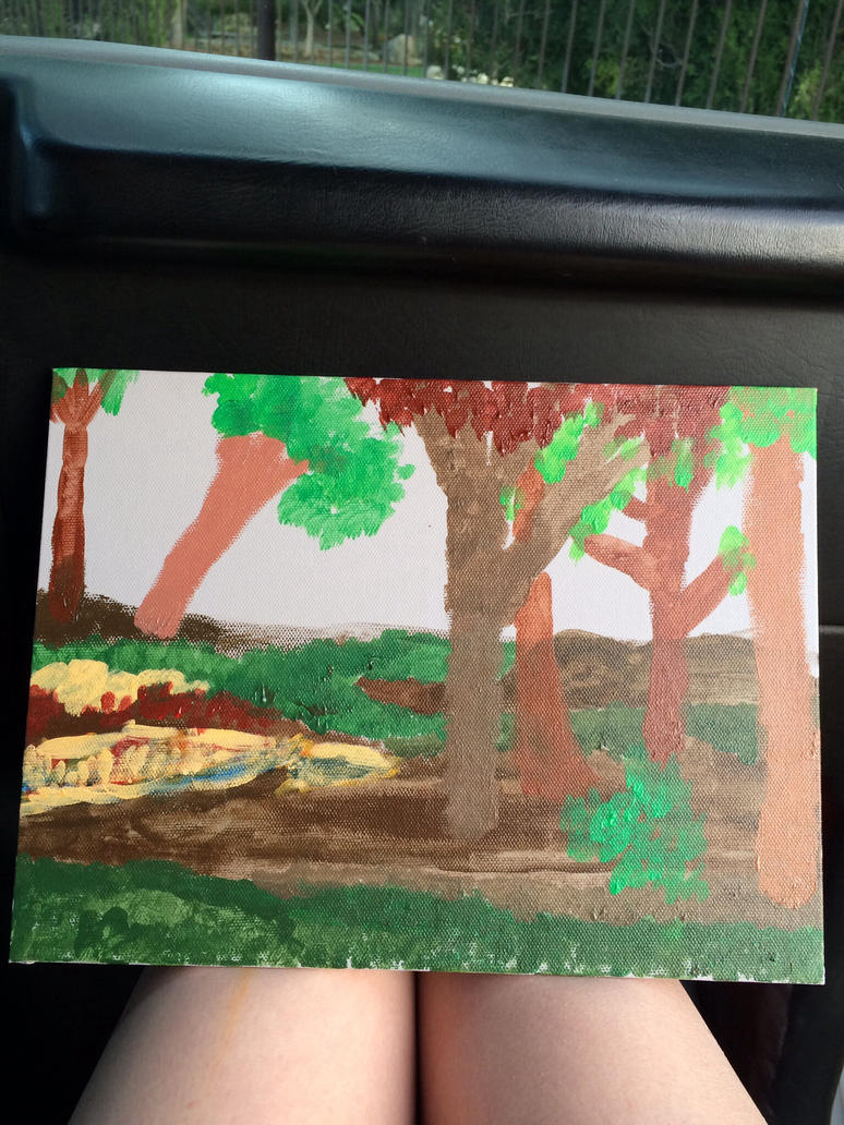 Forest attempt at Acrylics by SionnaDehr