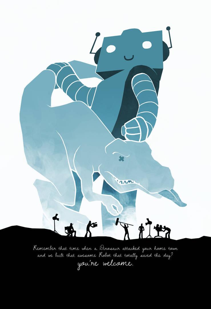 Robot vs Rex