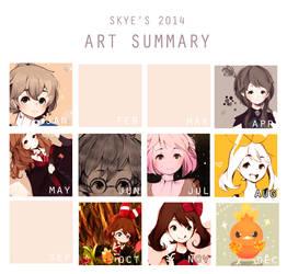 2014 Art Summary by skyeera