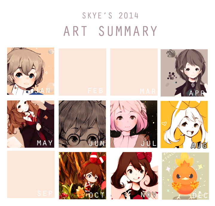 2014 Art Summary by skyeera