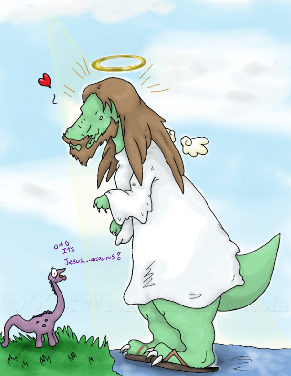 Gift for my bro: Jesusasaurus by G-manluver