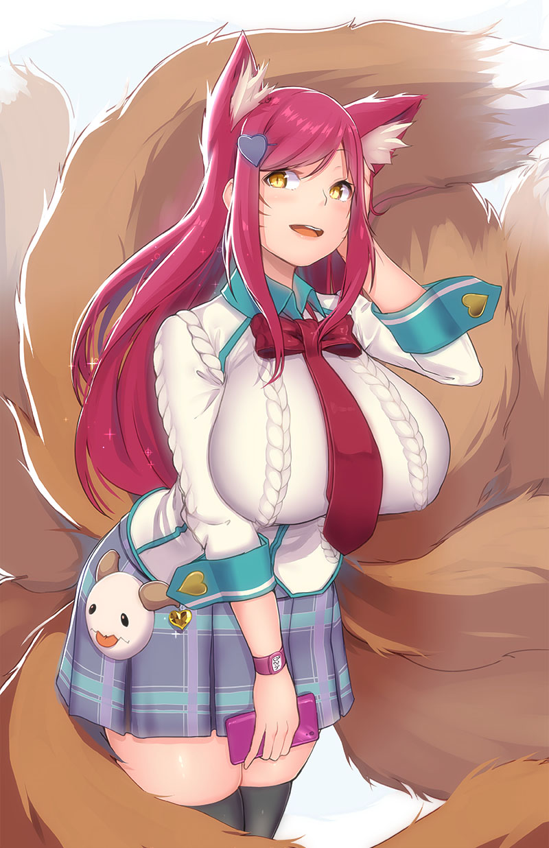 Characters: Demon Hunters __academy_ahri_and_ahri_league_of_legends_drawn_by_by_tamamonomae1112-dbawkab