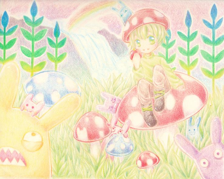 Mushrooms and Rabbits by Naixyai