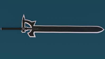 SAO: Kirito's Sword (Made in Blender) [view 2]