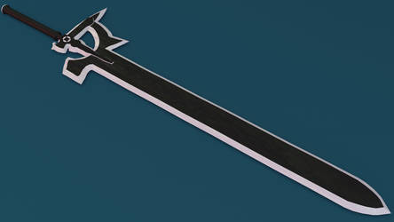 SAO: Kirito's Sword (Made in Blender) [view 1]