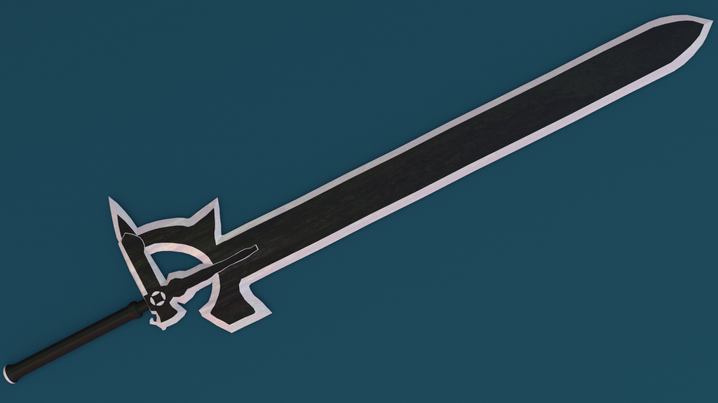 Sao Kirito S Sword Made In Blender View 3 By The