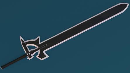 SAO: Kirito's Sword (Made in Blender) [view 3]