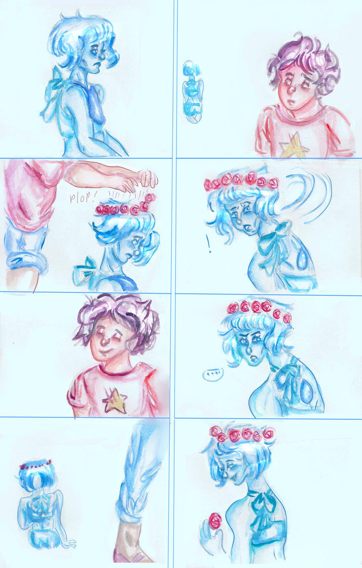 Lapis and Steven by ManiacalMarshmallow