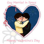 Gay Married in Space by cavatappimonster