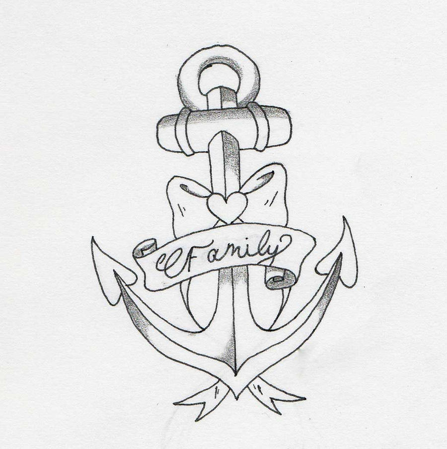 Anchor Tattoo Line Drawing : Family anchor by bb b asph my on deviantart