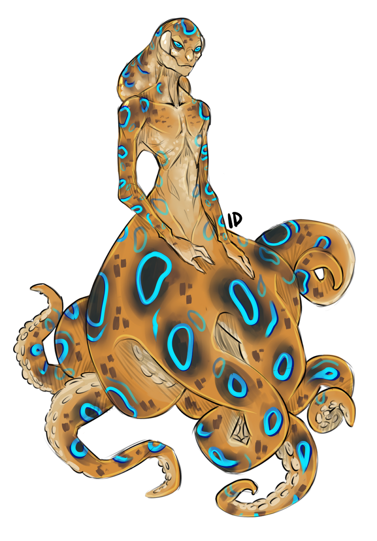 [A] Blue-ringed Octopus: SOLD by Gembone on DeviantArt