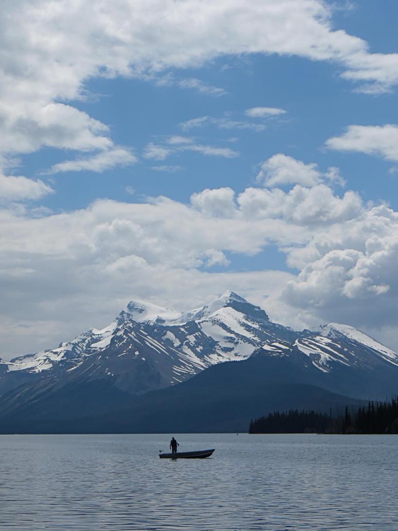 Maligne Lake Fishing by rmbastey
