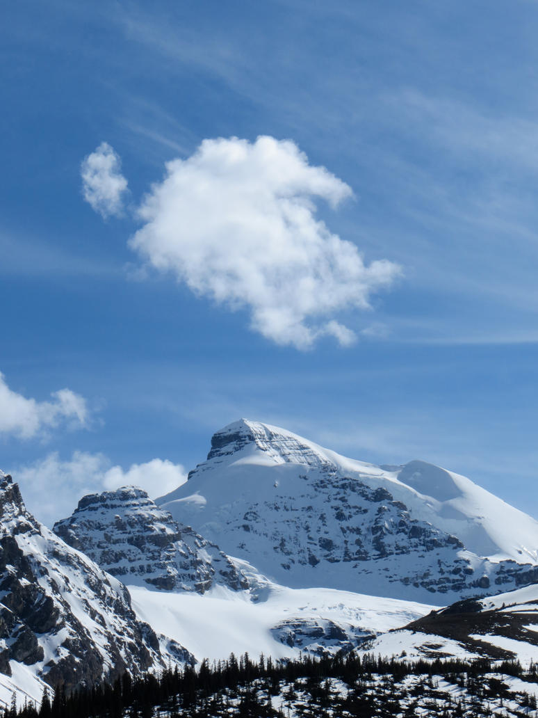 Bathed Mt Athabasca by rmbastey