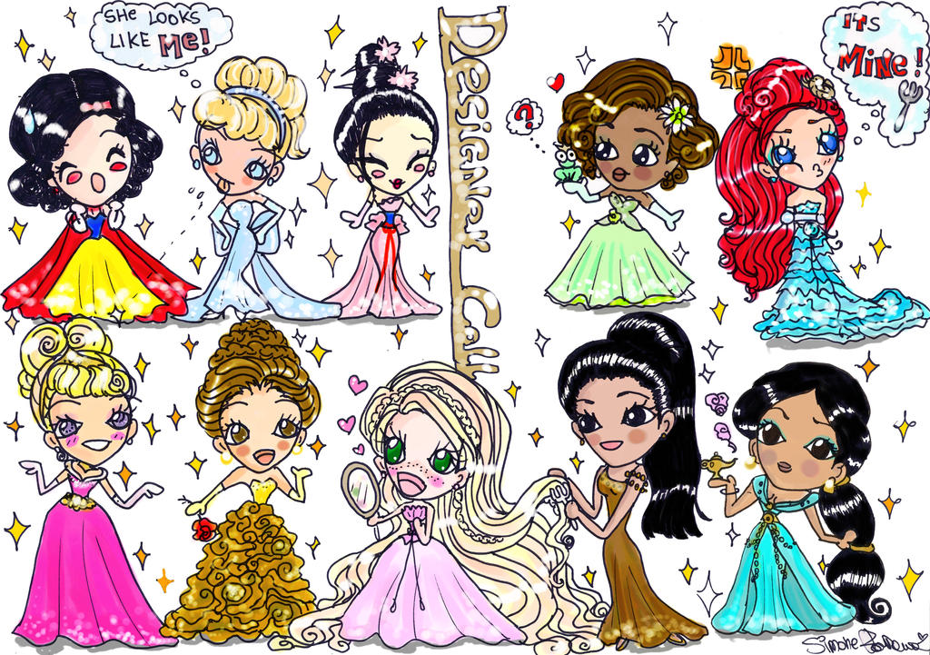 disney designer doll chibi by rosevalentineswan on deviantart