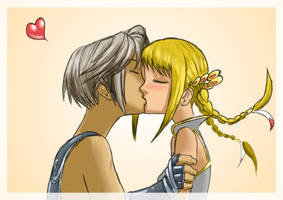 Vaan kisses Penelo X3
