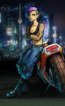 Cyberpunk RPG Character - Athena