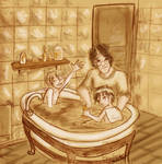 DH: Bath time at the Potters