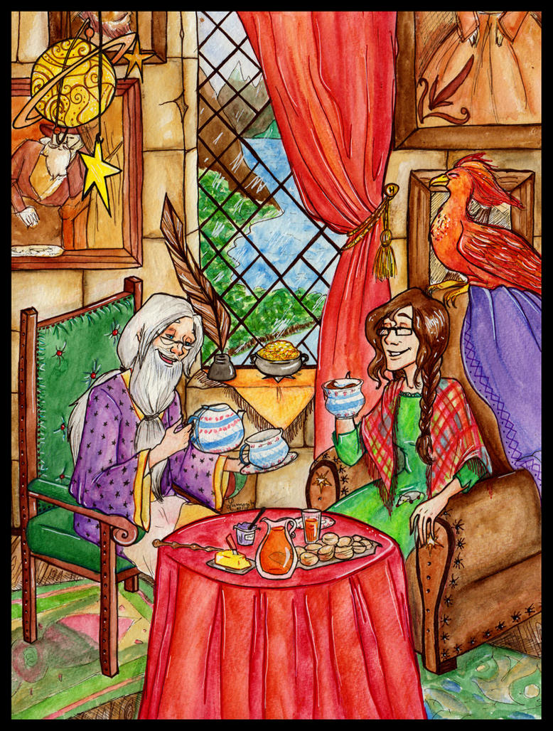Artrade - Minerva, Albus and the perfect breakfast by Lumosita