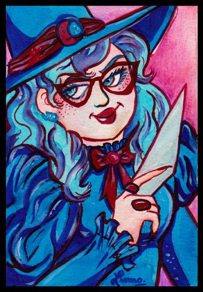 Witches portraits #3 - Myrtille