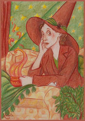 Virginia Woolf as a witch