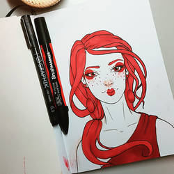 Red marker doodle by DaliteDraws
