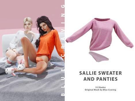 Sallie Sweater and panties - TS4
