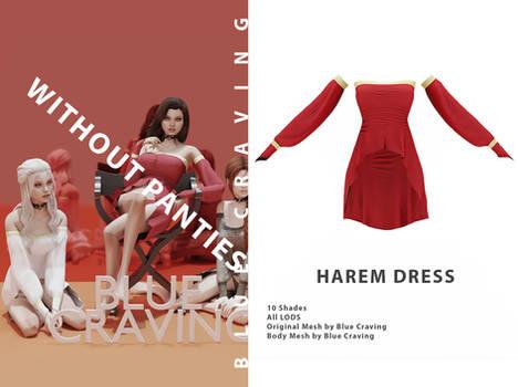 Harem dress without panties