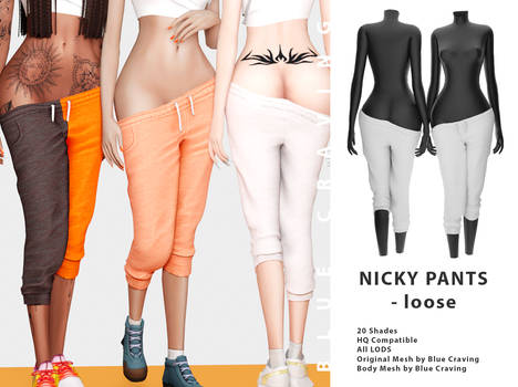 [Blue Craving] Nicky pants loose