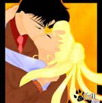 Darien and Serena Kiss
