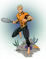 A is for AQUAMAN by Mista-M
