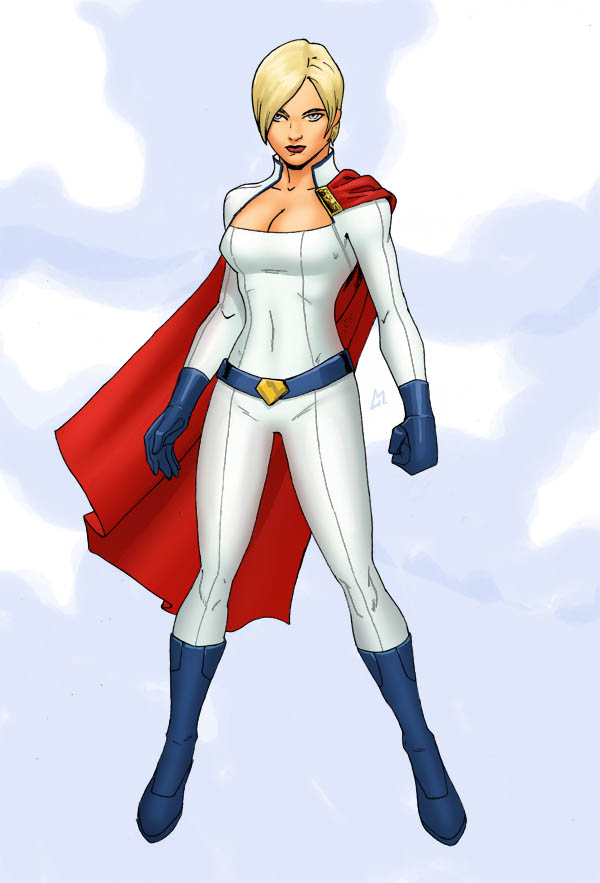 P is for Power Girl by Mista-M