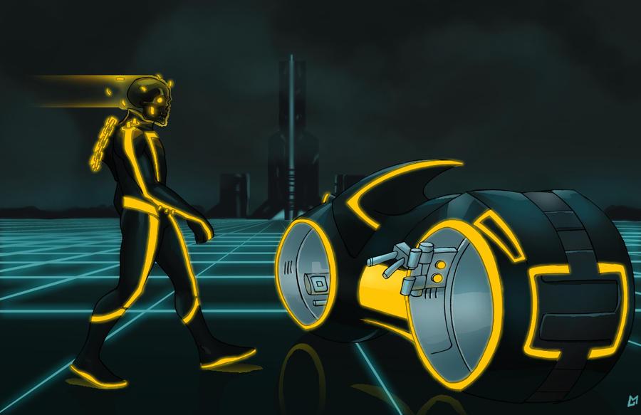 Tron: Ghost Rider 2.0 by Mista-M