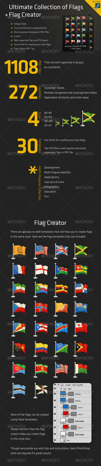 Ultimate Collection of Flags by Rukamiby