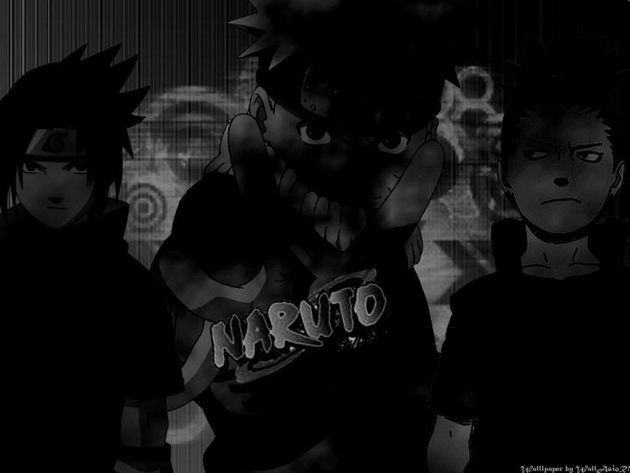 naruto   black   wallpaper by wallasior d2l3ano