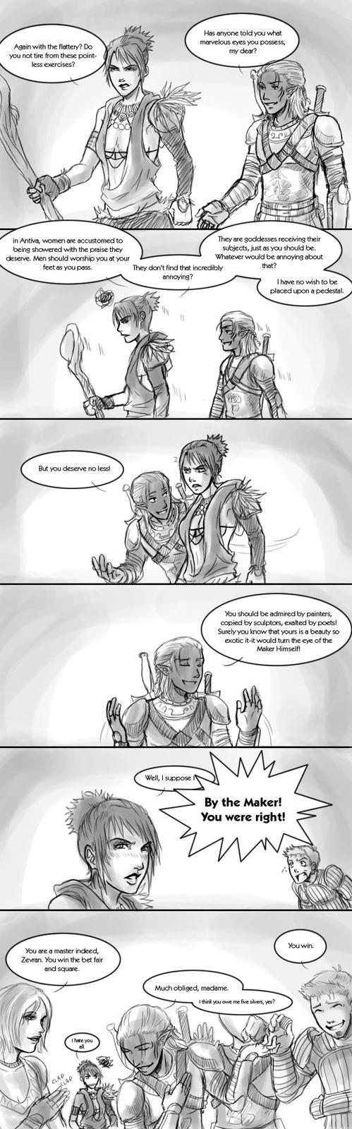 Dragon Age Origins: Banter 2 by pen-gwyn