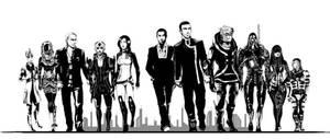 ME2 Shepard's Eleven by pen-gwyn