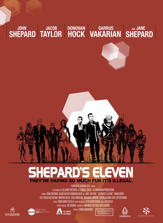 ME2 Shepard's Eleven Poster