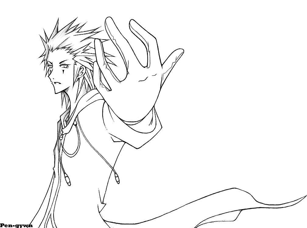 Kingdom Hearts Lineart : Axel kingdom hearts ii by pen gwyn on deviantart