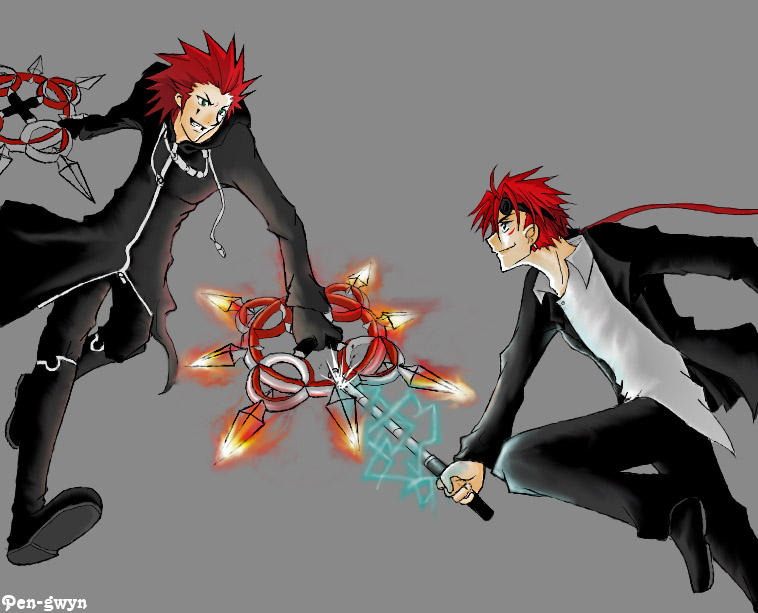 Axel vs Reno by pen-gwyn