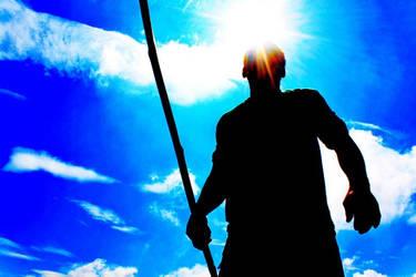 A Fisherman Under the Sun