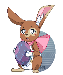 Easterpixel Lapin By Minasorano On Deviantart