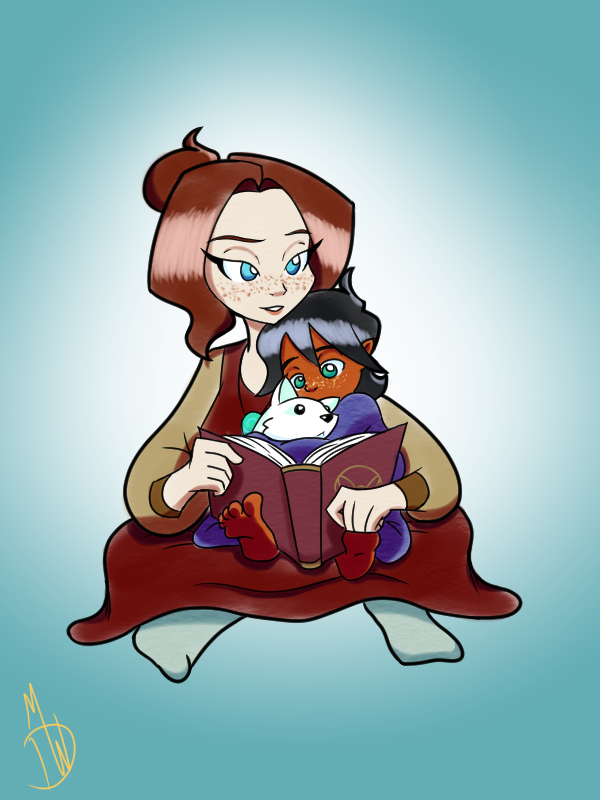 Margaret and Baby Milo by HeyitzMick