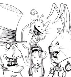 Alice in wonderland... by Saulo