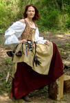 Burgundy and Gold Wench 4