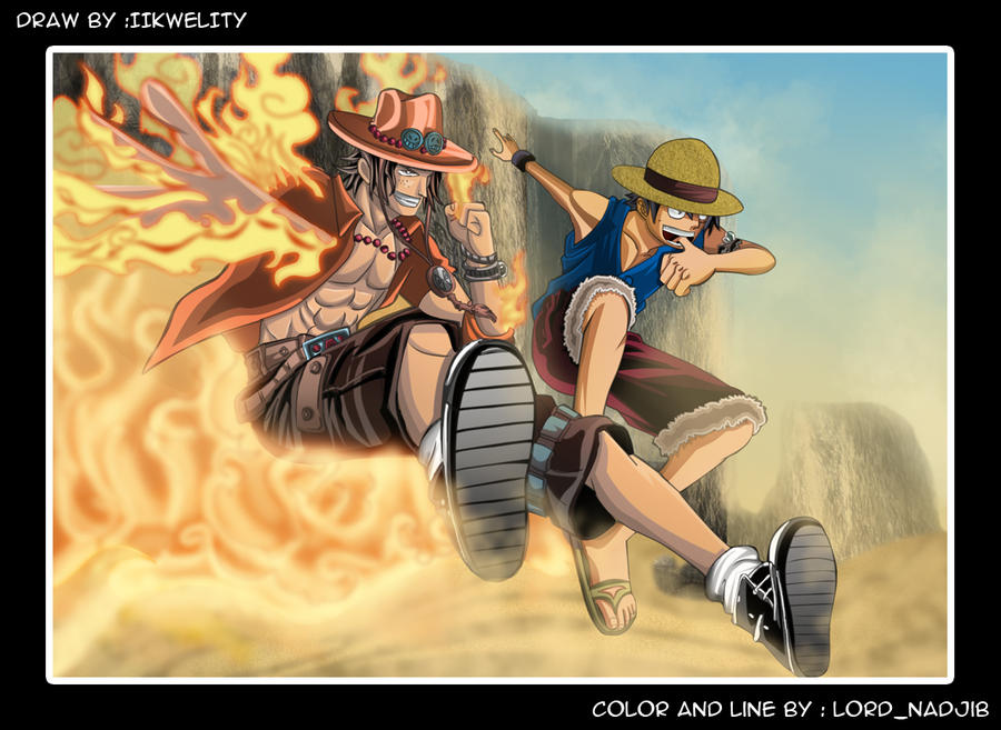 Luffy + Ace Ace_and_luffy_by_lord_nadjib-d2yhmyx